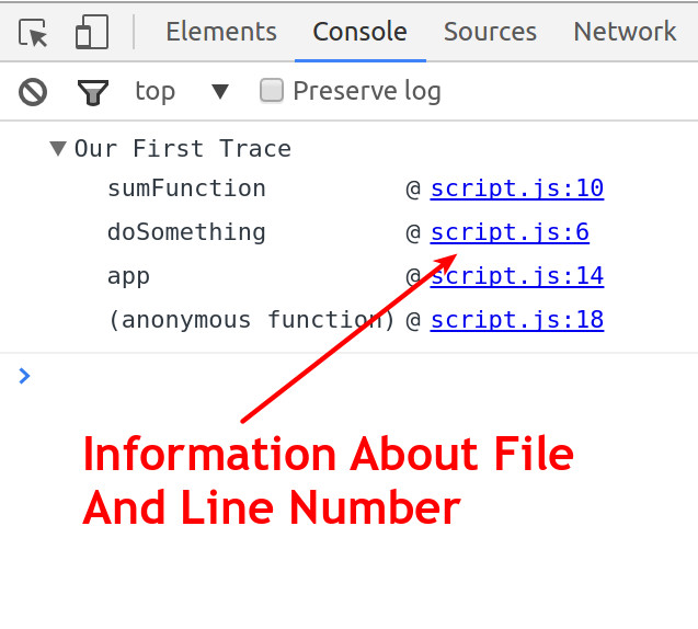file and line number info from console.trace